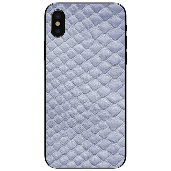Sea Python Back iPhone XS Leather Skin