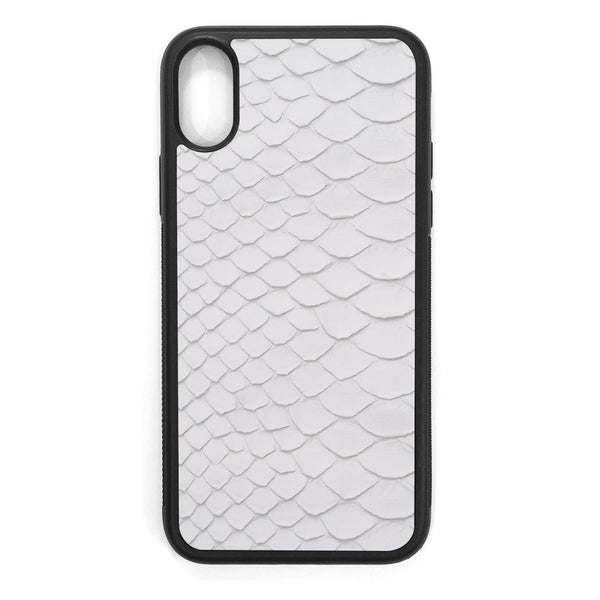 White Python Back iPhone X Leather Case