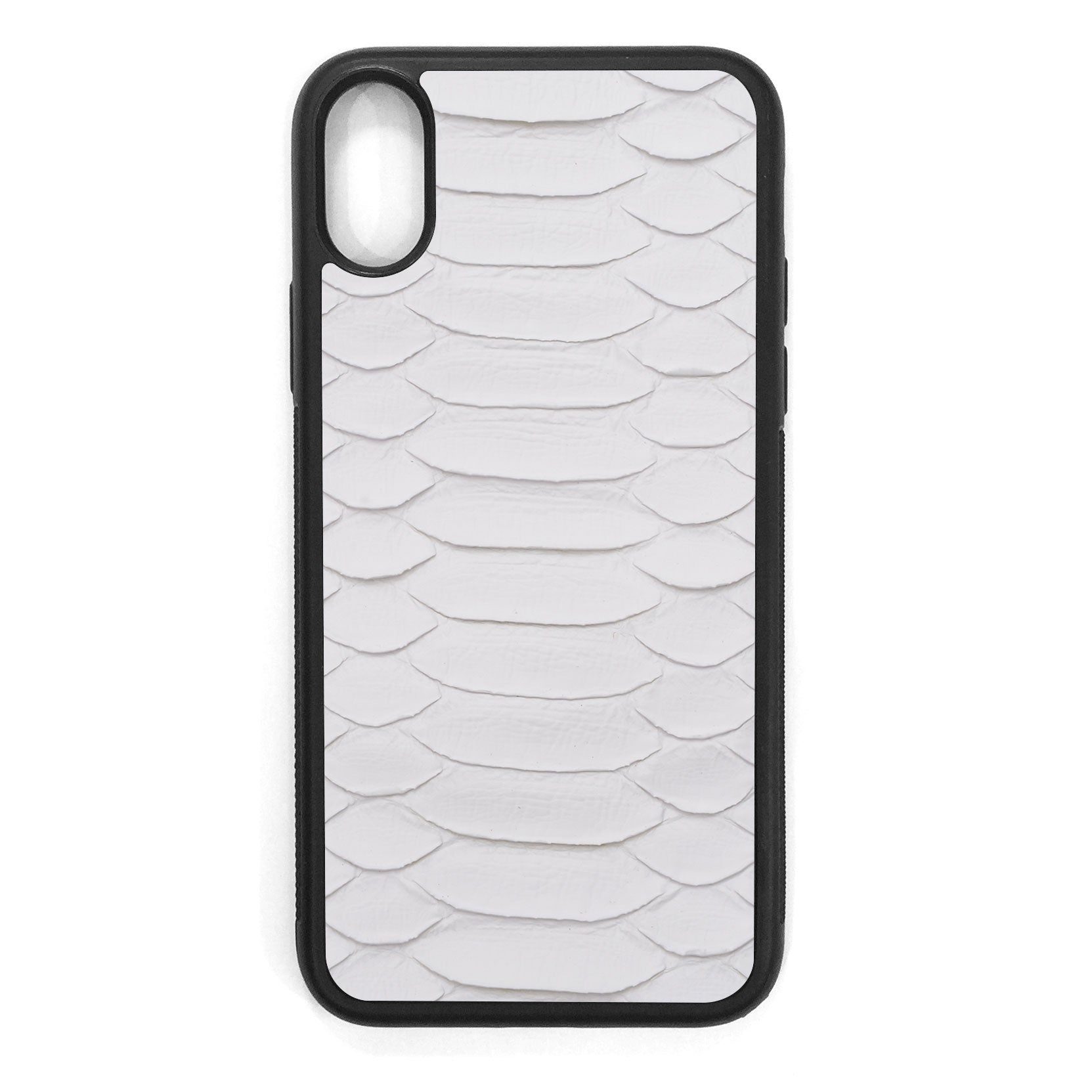 White Python iPhone XS Leather Case