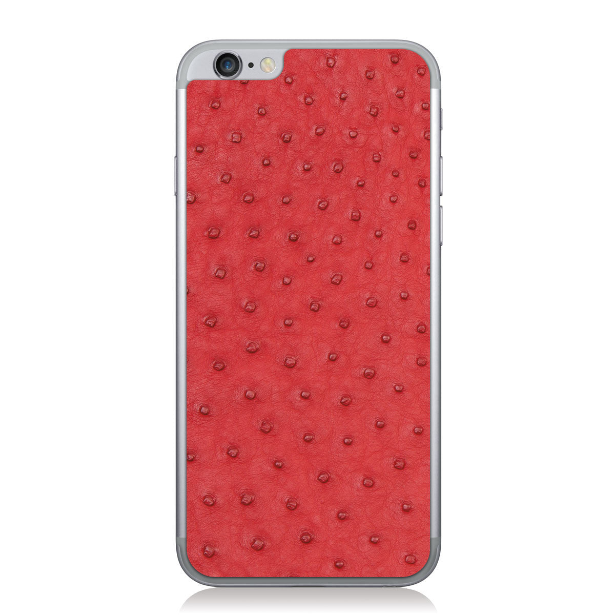 Red Ostrich iPhone 6/6s Leather Skin