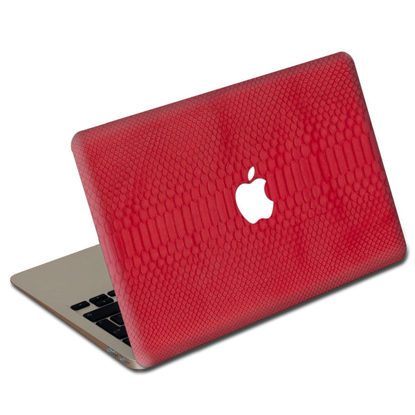 Red Python MacBook Leather Cover