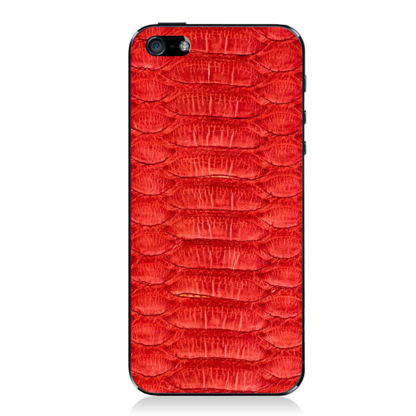 Red Python iPhone 5 - 5S - SE Leather Skin