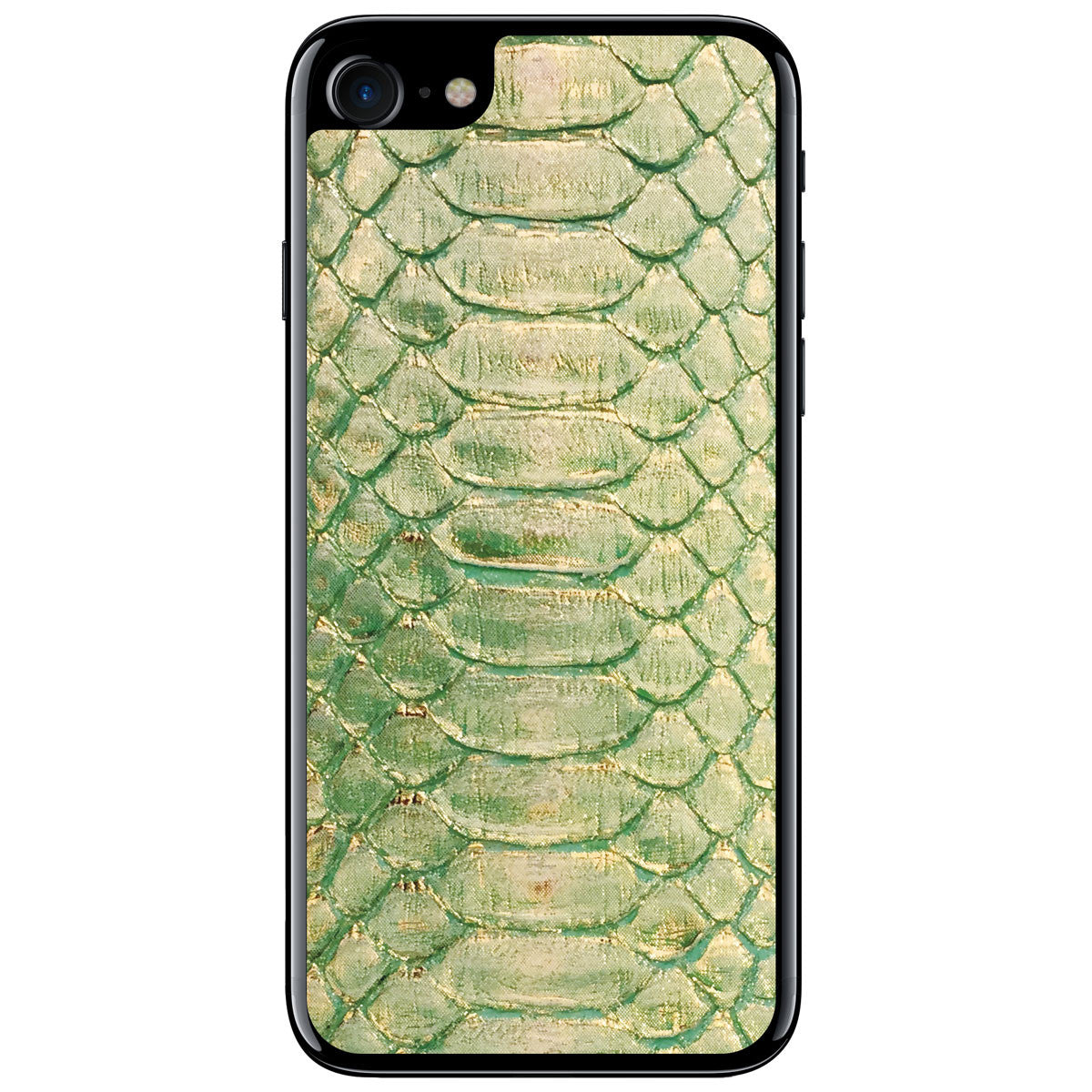 Seafoam and Gold Python iPhone 8 Leather Skin