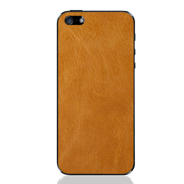 Tan iPhone 5 - 5S - SE Leather Skin