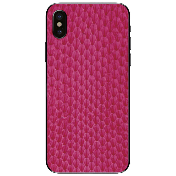 Pink Whip Snake iPhone XS Leather Skin