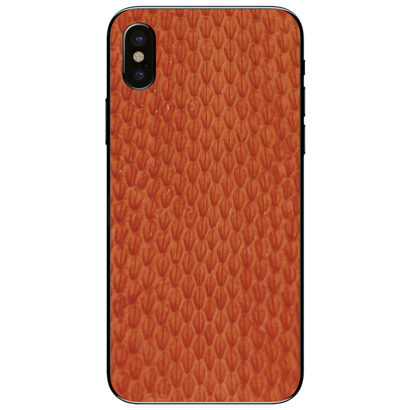 Orange Whip Snake iPhone XS Leather Skin