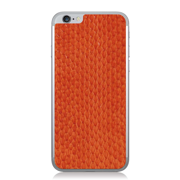 Orange Whip Snake iPhone 6/6s Leather Skin