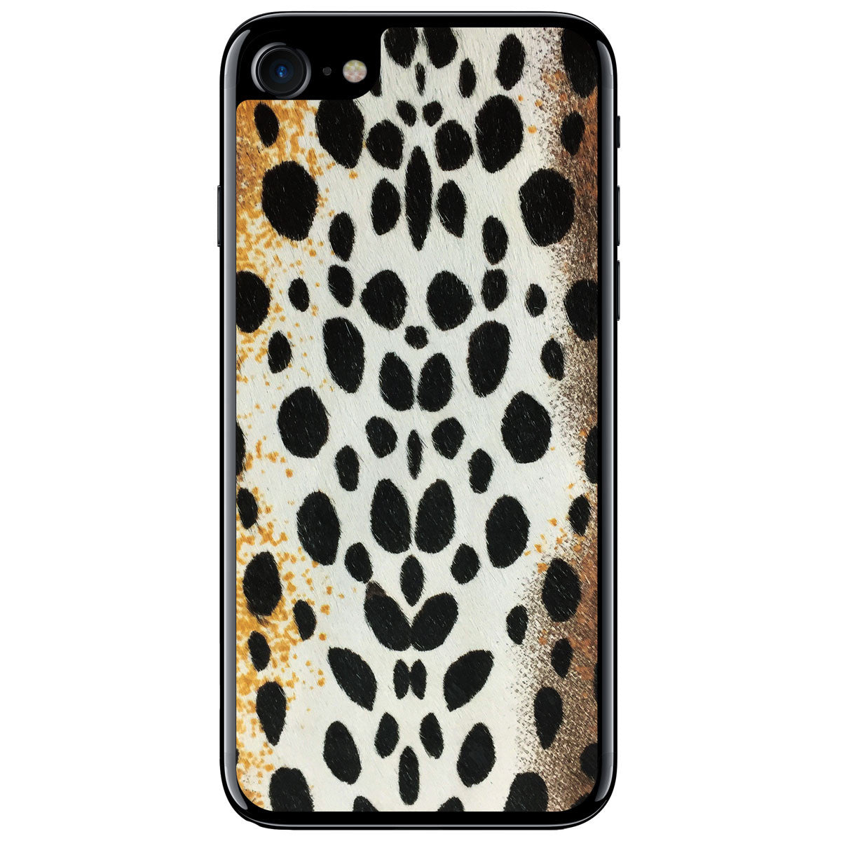 White Cheetah Print Pony Hair iPhone 8 Leather Skin