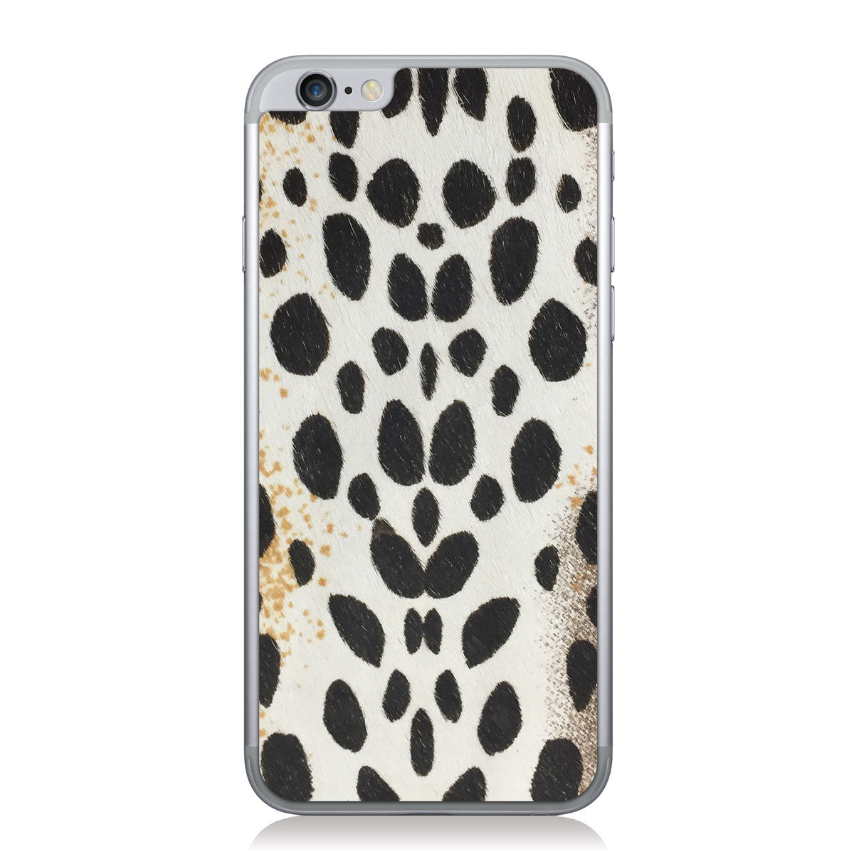 White Cheetah Print Pony iPhone 6/6s Leather Skin