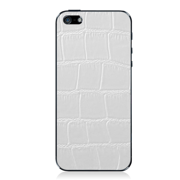 White Crocodile iPhone 5 - 5S - SE Leather Skin