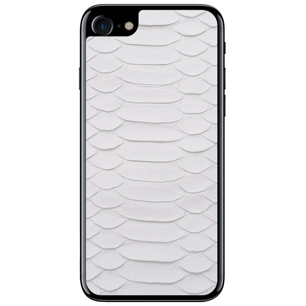 White Python iPhone 8 Leather Skin