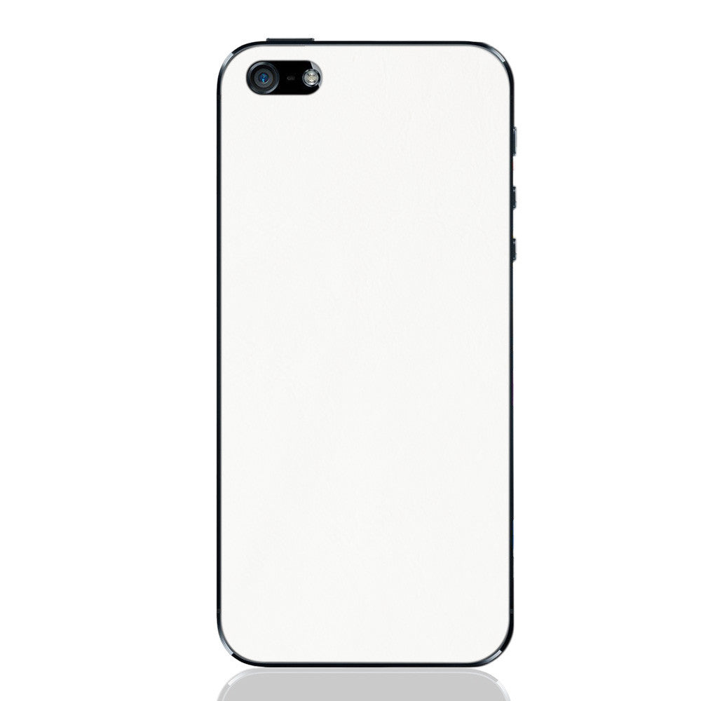 White iPhone 5 - 5S - SE Leather Skin