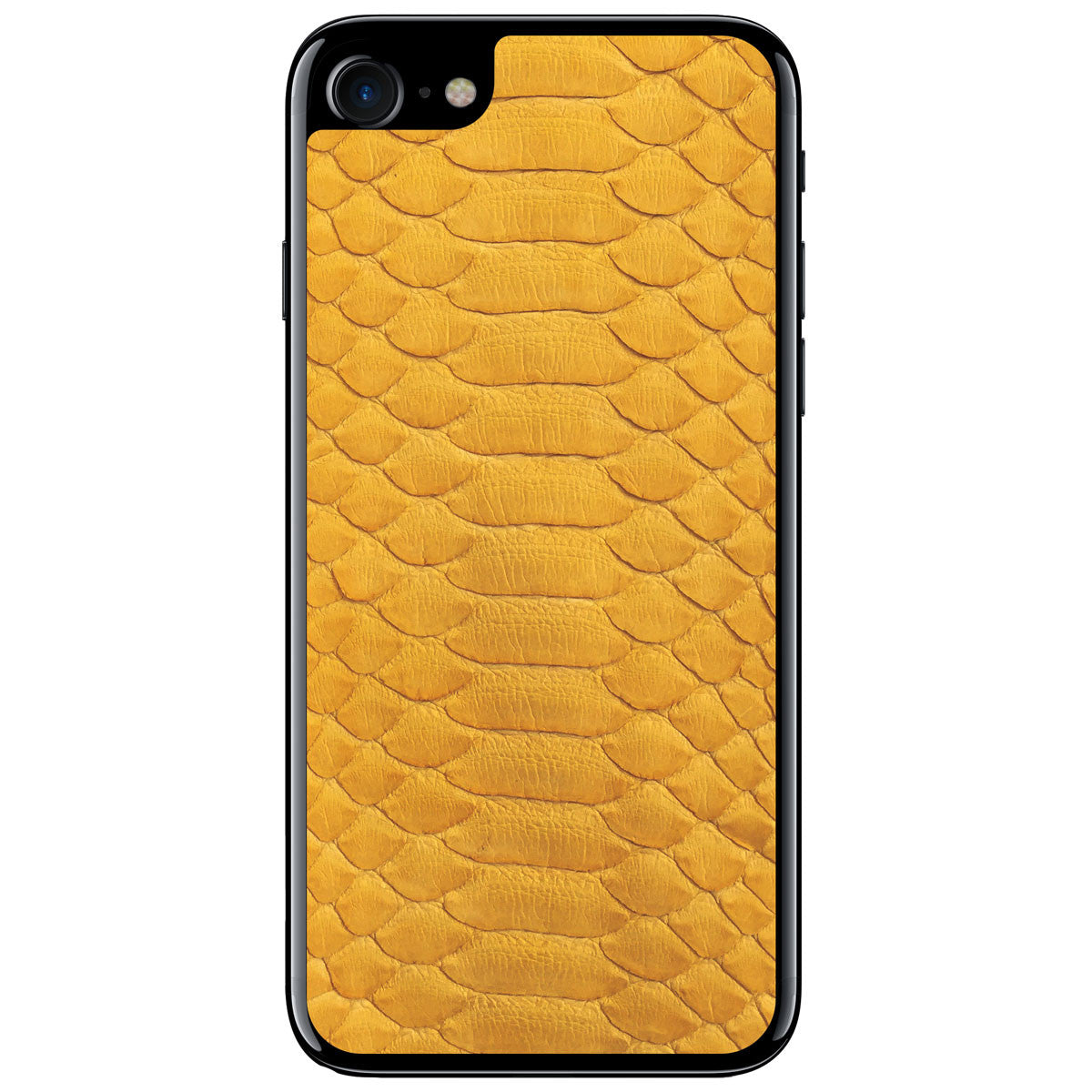 Yellow Python iPhone 7 Leather Skin