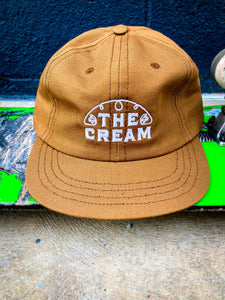 The Cream Half Line Logo - Short Billed Unstructured Hat (brown)