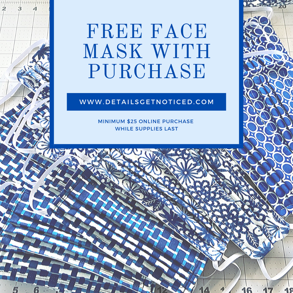 Free Face Mask with Purchase