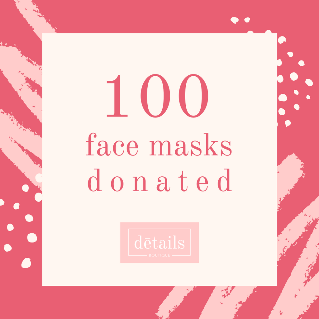 100 Face Masks Donated