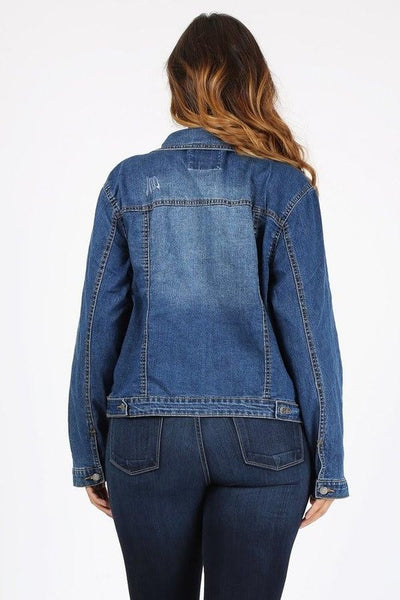 Details Stretch Denim Jacket