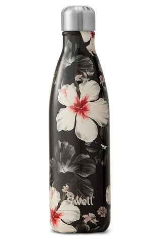S'well Black Floral Bottle - 17oz