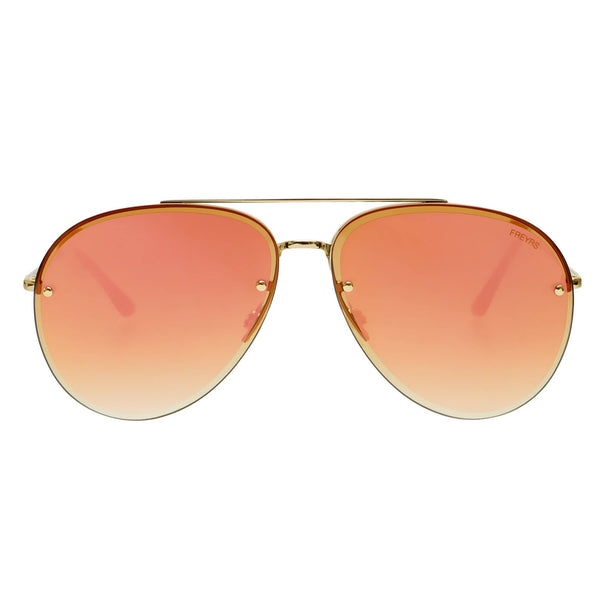 Charlie Mirrored Aviator Sunglasses