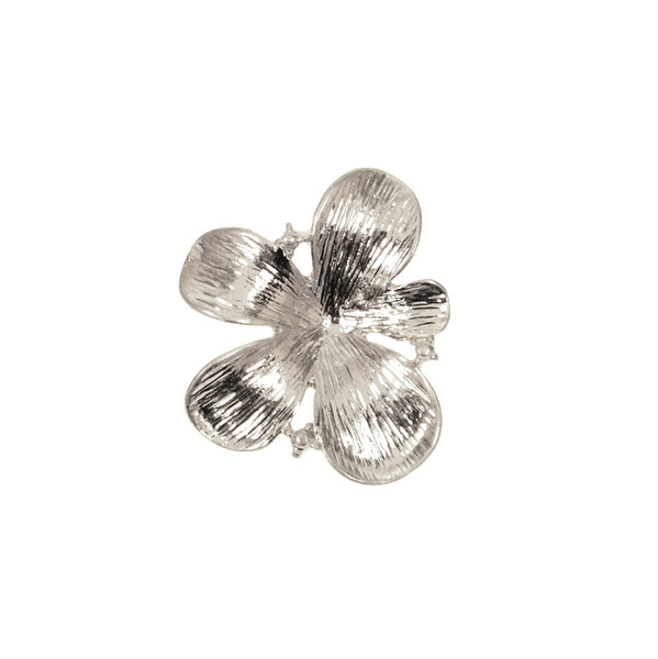 Flower Post Earrings - Silver