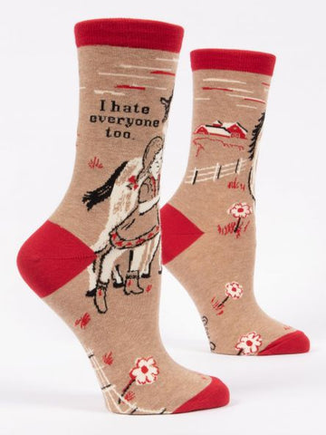 I Hate Everyone, Too - Women's Crew Socks