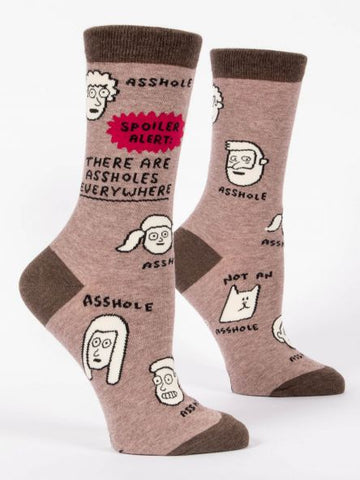Spoiler Alert! Assholes Everywhere - Women's Crew Socks