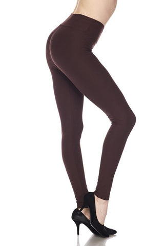 Classic Leggings - Brown
