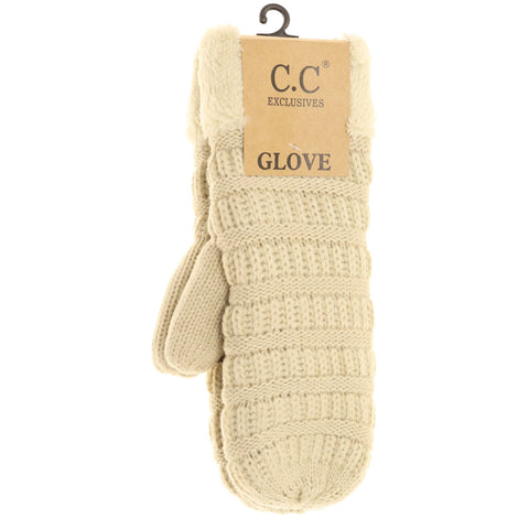 CC Knit Mittens - Solid