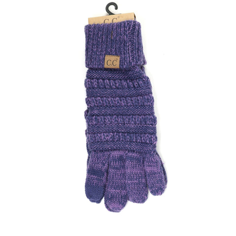 CC Knit Gloves - Multicolored