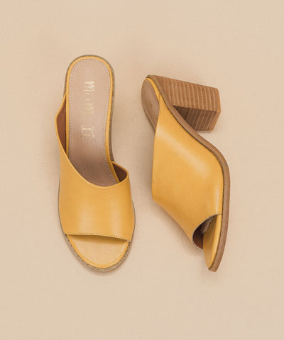 Haven Yellow Block Heel