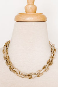 Acetate Chain Link Necklace