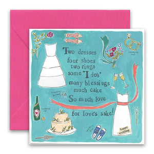 Two Dresses Wedding Card