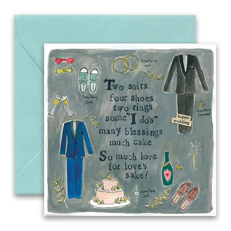 Two Suits Wedding Card