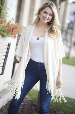 Ivory Sweater Wrap