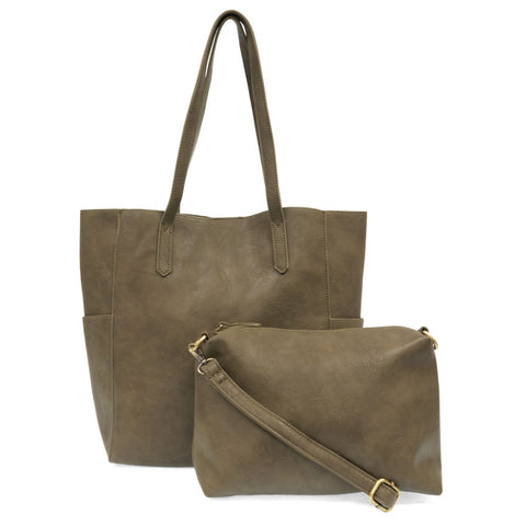 Bella Tote Bag - Olive Green