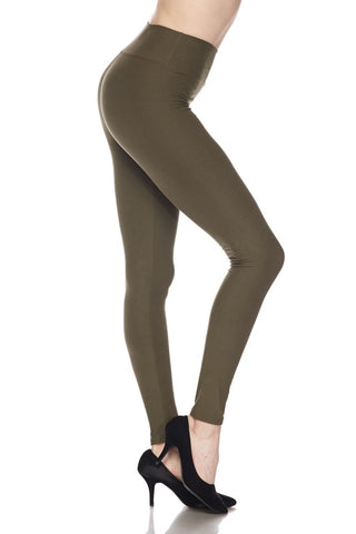 Classic Leggings - Olive Green