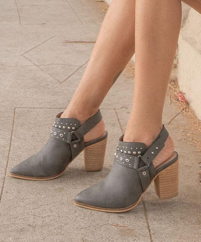 Philomena Gray Studded Boots