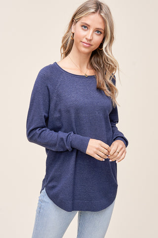 Blue Boatneck Sweater