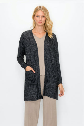 Billie Cardigan - Charcoal