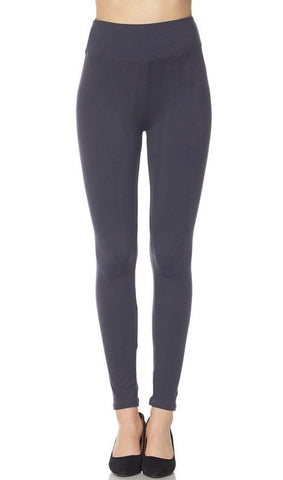 "Solid Charcoal Dark Gray ""Butter Soft"" Leggings (Regular + Plus Size) from Details Boutique. www.shop-details.com"