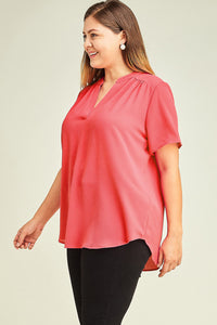 Coral Short-Sleeve Top