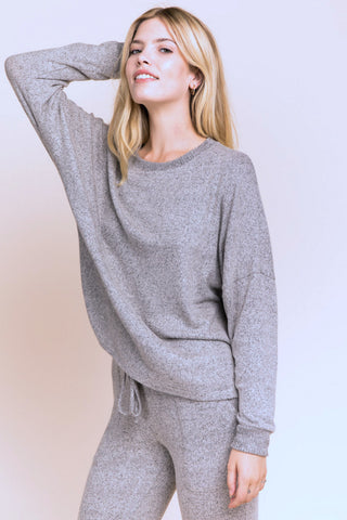 Luxe Lounge Top - Gray
