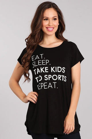 """Sport Mom"" Graphic Top"
