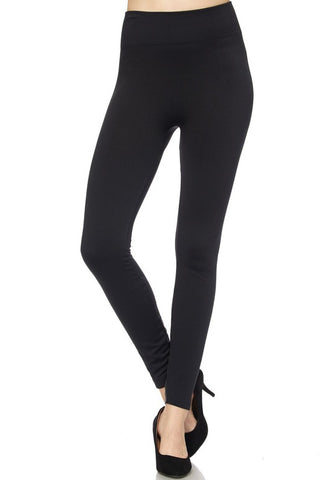 Black Fleece-Lined Leggings (Regular + Plus Size) from Details Boutique. www.shop-details.com  Lightly lined in super soft fleece, these solid black leggings provide comfortable warmth on chilly days without the bulk or worries of overheating.