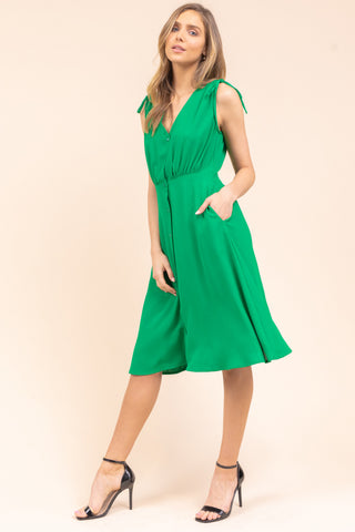 Green Button Down Dress