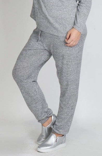 Grey Jogger Pants - Plus