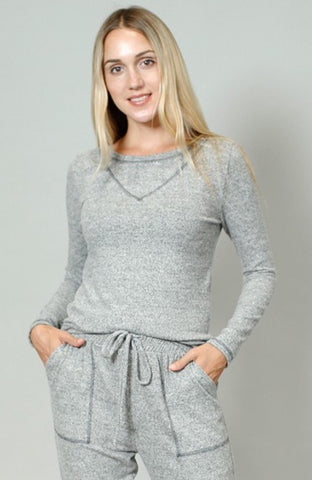 Contrast Stitch Pullover