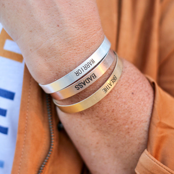 Stamped Metal Statement Bracelets