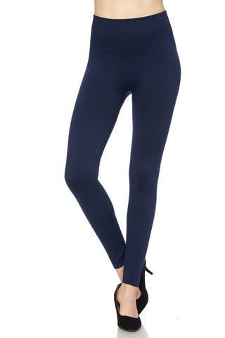 Navy Blue Fleece-Lined Leggings