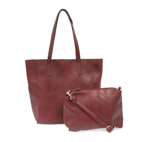 Bella Tote Bag - Cranberry